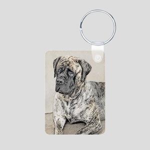 English Mastiff (Brindle) Aluminum Photo Keychain