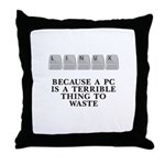 Linux, because a PC Throw Pillow