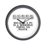 Linux, because a PC Wall Clock