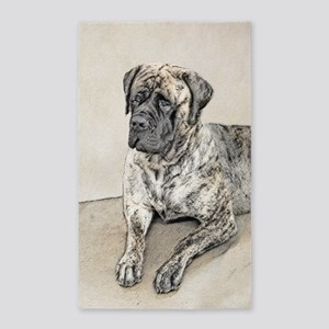 English Mastiff (Brindle) Area Rug
