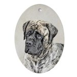 English Mastiff (Brindle) Oval Ornament