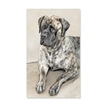 English Mastiff (Brindle) 35x21 Wall Decal