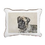 English Mastiff (Brindle Rectangular Canvas Pillow