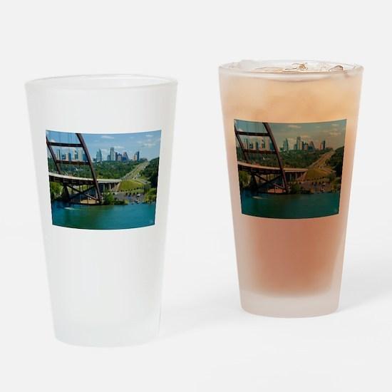 Austin Texas Skyline Bridge Drinking Glass