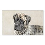 English Mastiff (Brindle Sticker (Rectangle 10 pk)