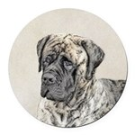 English Mastiff (Brindle) Round Car Magnet
