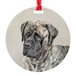 English Mastiff (Brindle) Round Ornament