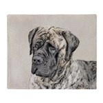 English Mastiff (Brindle) Throw Blanket
