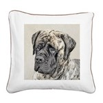 English Mastiff (Brindle) Square Canvas Pillow