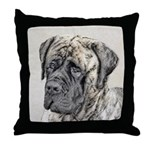 English Mastiff (Brindle) Throw Pillow