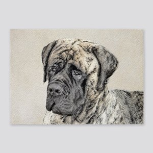 English Mastiff (Brindle) 5'x7'Area Rug