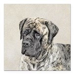 English Mastiff (Brindle Square Car Magnet 3