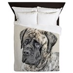 English Mastiff (Brindle) Queen Duvet