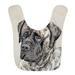 English Mastiff (Brindle) Polyester Baby Bib