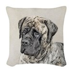 English Mastiff (Brindle) Woven Throw Pillow