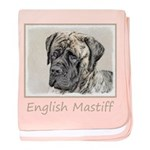English Mastiff (Brindle) baby blanket