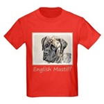 English Mastiff (Brindle) Kids Dark T-Shirt