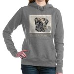 English Mastiff (Brindle Women's Hooded Sweatshirt