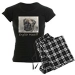 English Mastiff (Brindle) Women's Dark Pajamas