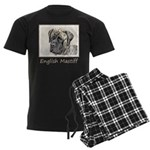 English Mastiff (Brindle) Men's Dark Pajamas