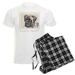 English Mastiff (Brindle) Men's Light Pajamas
