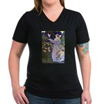 The Rose Faries Women's V-Neck Dark T-Shirt