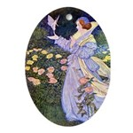 The Rose Faries Ornament (Oval)