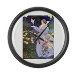 The Rose Faries Large Wall Clock