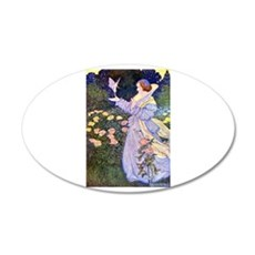 The Rose Faries 22x14 Oval Wall Peel