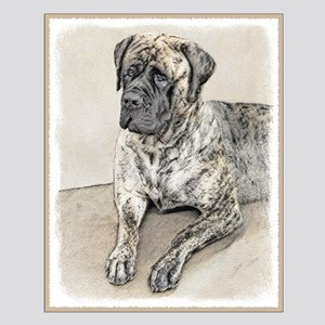 English Mastiff (Brindle) Small Poster