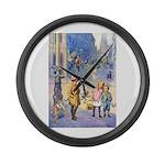 Twilight Fairies Large Wall Clock