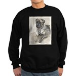 English Mastiff (Brindle) Sweatshirt (dark)