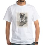 English Mastiff (Brindle) White T-Shirt