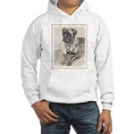English Mastiff (Brindle) Hooded Sweatshirt