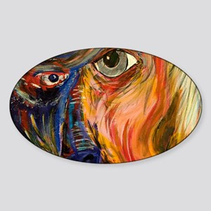 Glam Animal Sticker (Oval)