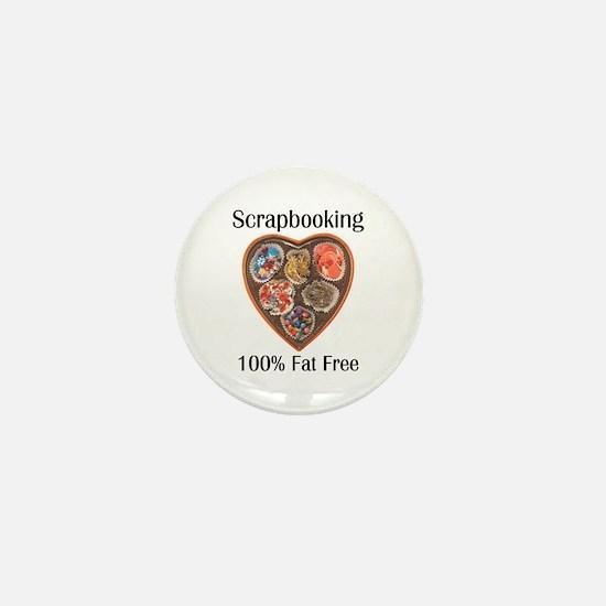 Scrapbooking 100% Fat Free Mini Button