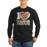 I Love Bacon Long Sleeve Dark T-Shirt