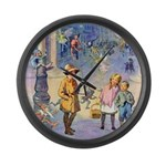 Twilight Fairies Large Wall Clock