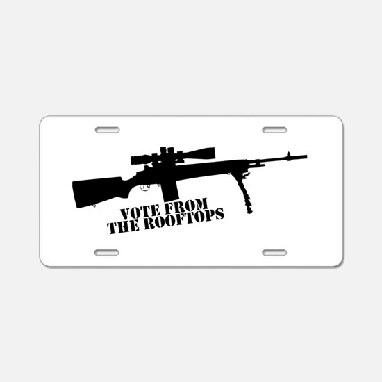 Cute Rifle Aluminum License Plate