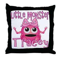 Little Monster Tracey Throw Pillow