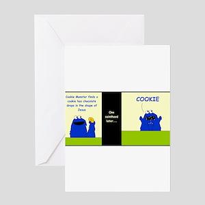 Cookie Stigmata Greeting Card