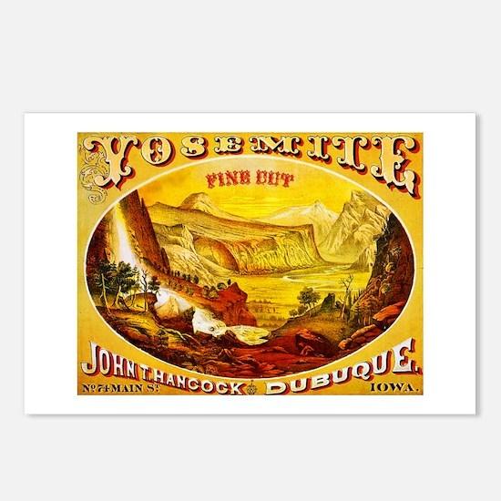 Yosemite Cigar Label Postcards (Package of 8)