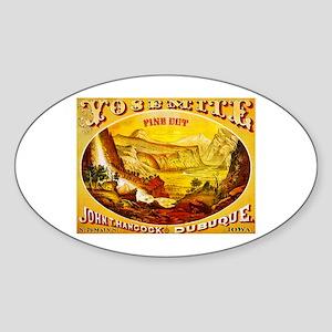Yosemite Cigar Label Sticker (Oval)
