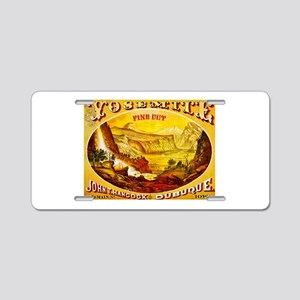 Yosemite Cigar Label Aluminum License Plate