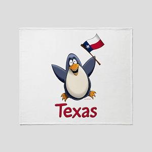 Texas Penguin Throw Blanket