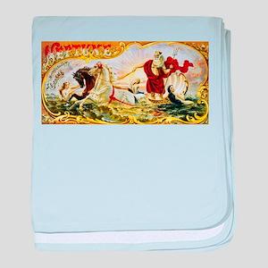 Neptune Cigar Label baby blanket