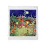 The Fairy Circus Throw Blanket