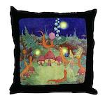 The Fairy Circus Throw Pillow