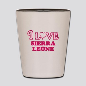 I love Sierra Leone Shot Glass