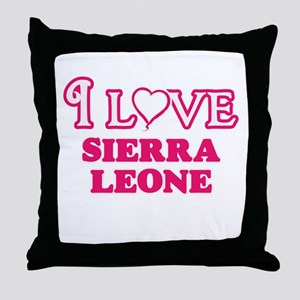 I love Sierra Leone Throw Pillow